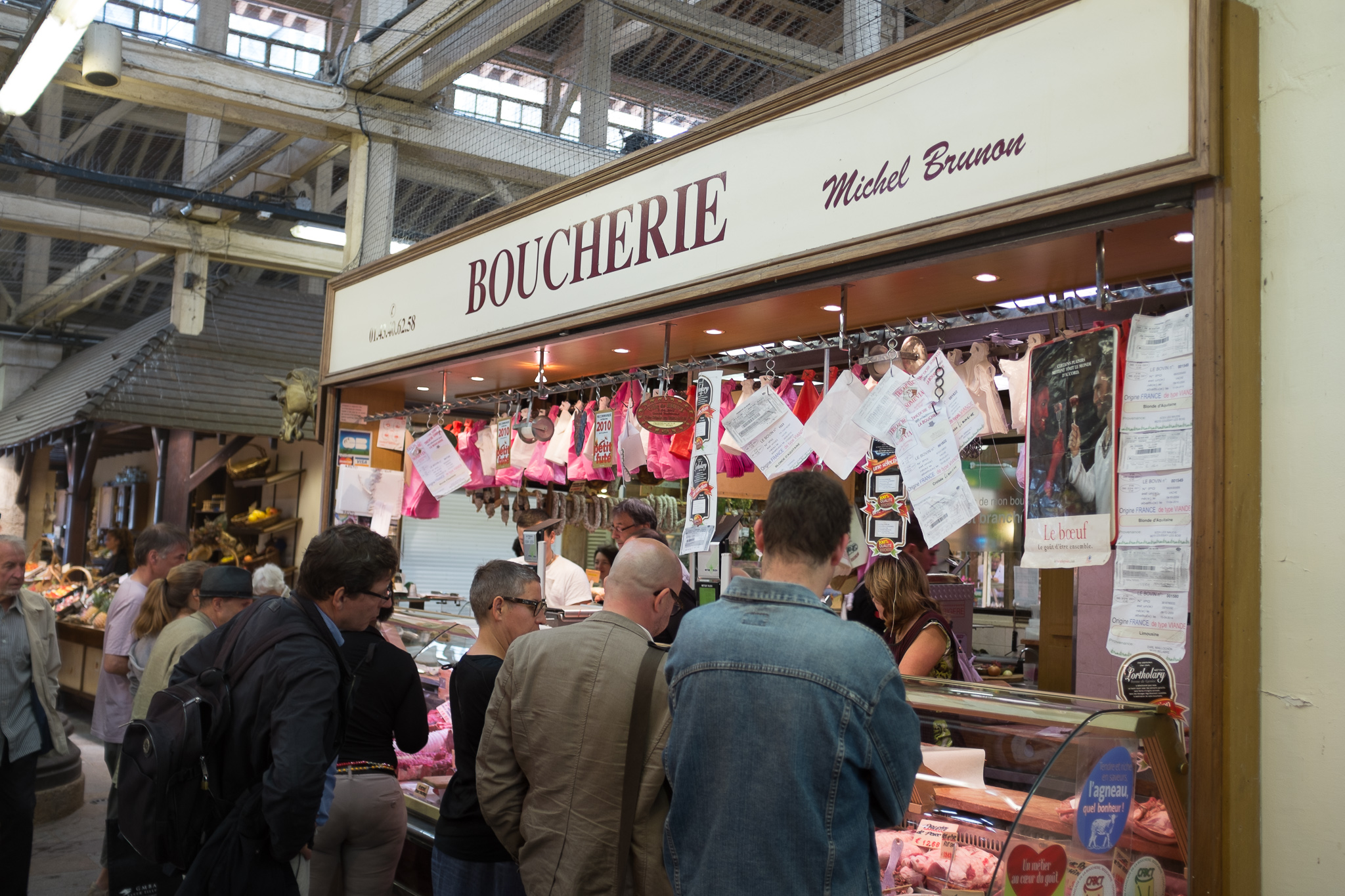 Boucherie-- a butcher's job is to be taken very, very seriously in Paris.