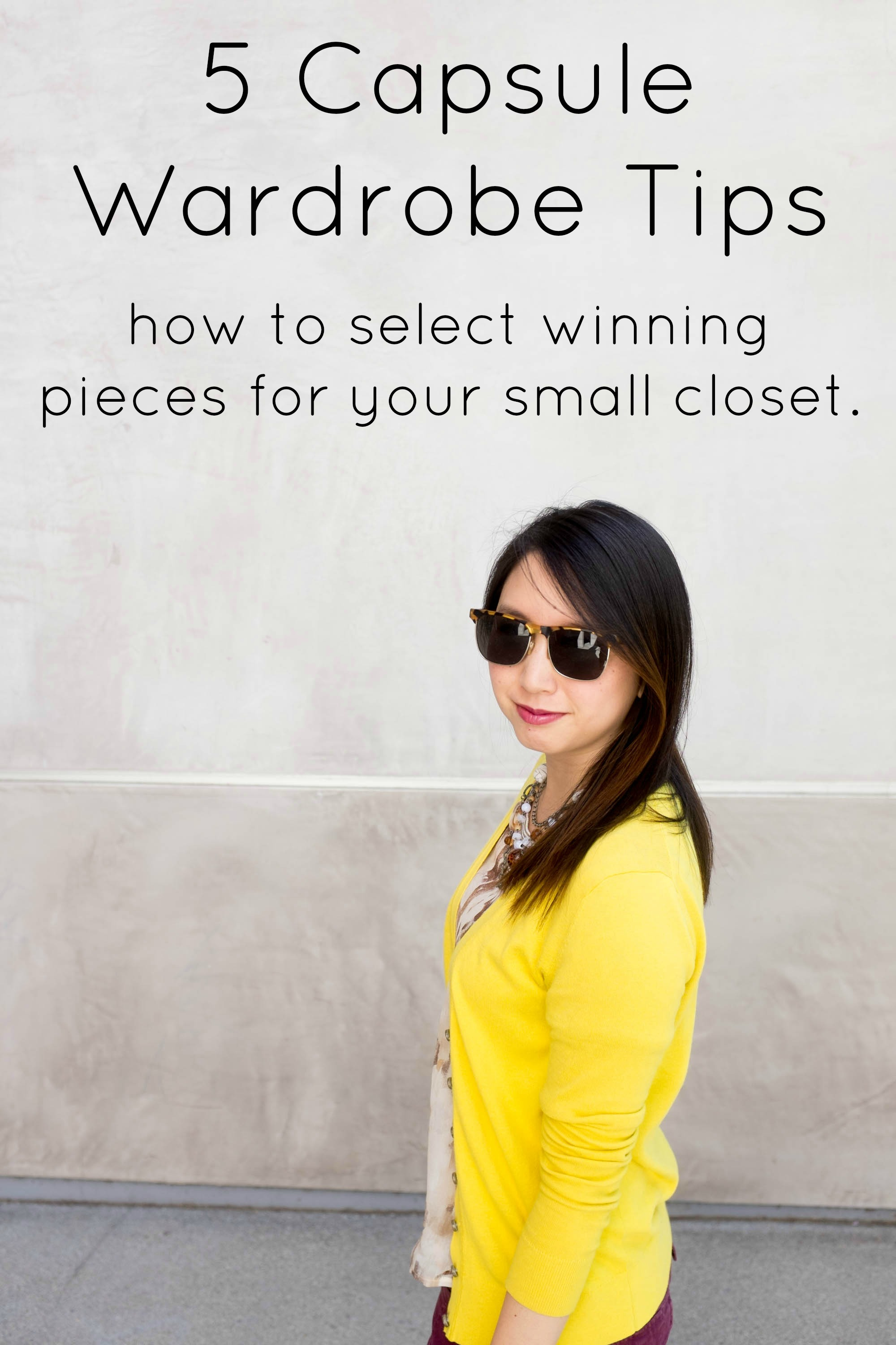 Capsule wardrobe tips and 200 to get you started for Who started minimalism