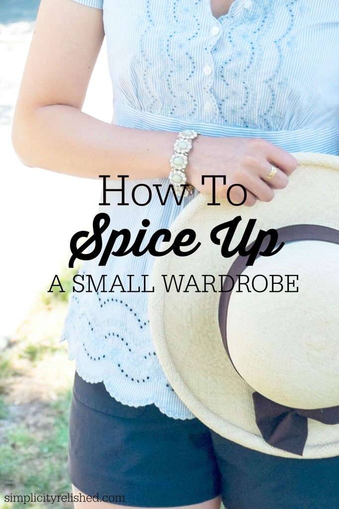 5 Secrets to Spicing Up a Small Wardrobe- find your style in the details