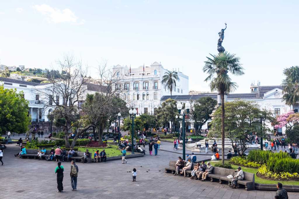10 Best Snapshots From Ecuador - plaza grande