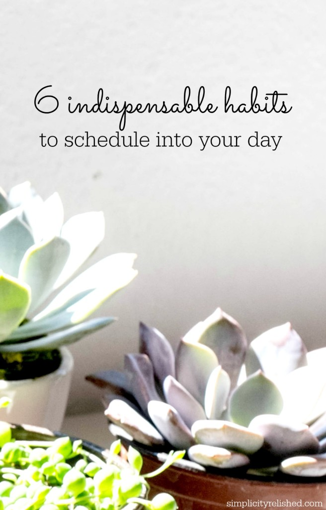 6 Indispensable Habits To Schedule Into Your Day