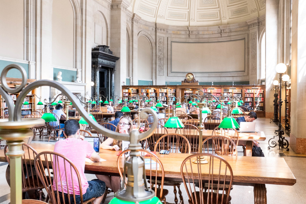 Boston Public Library - Reading Room