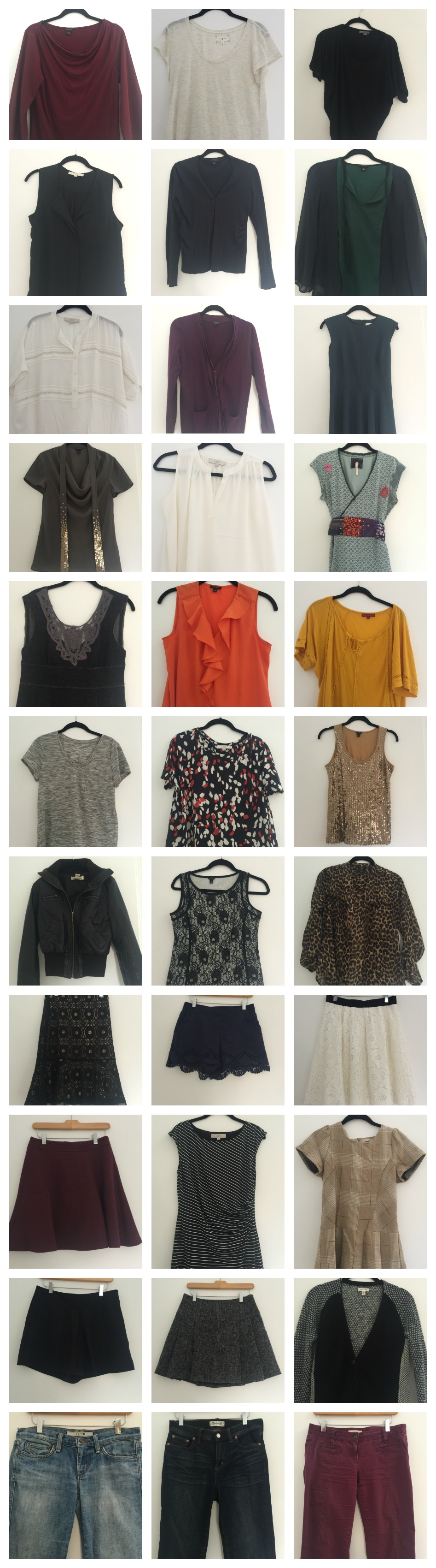 Fall capsule wardrobe- 33 pieces