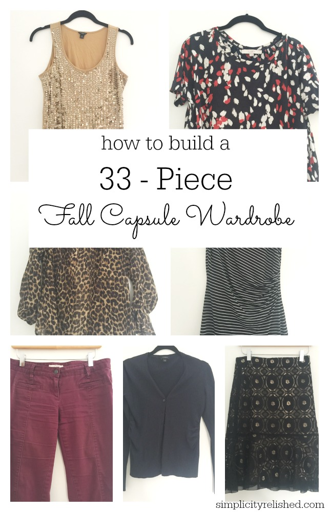 Fall capsule wardrobe guide- how to build a 33 piece capsule wardrobe for 2015