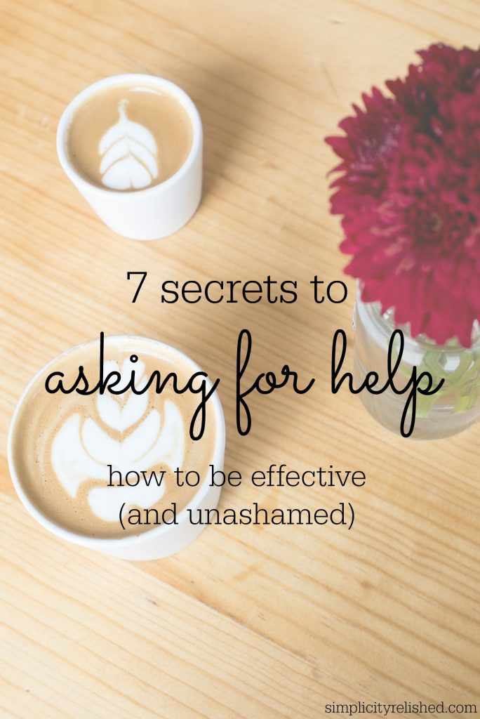 How to ask for help- without wanting to die