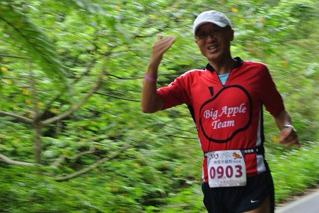 Steve running one of many races.