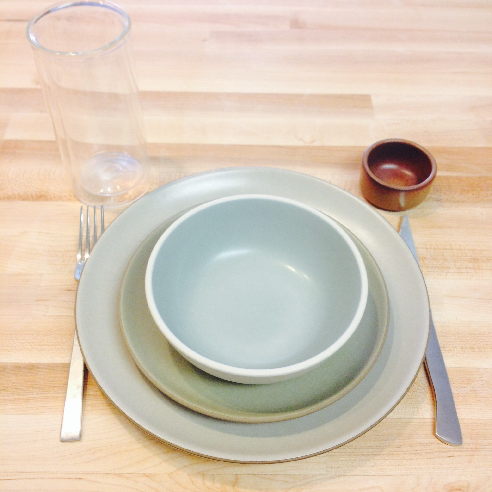 "Our new tableware screaming ""fill me!!!"""