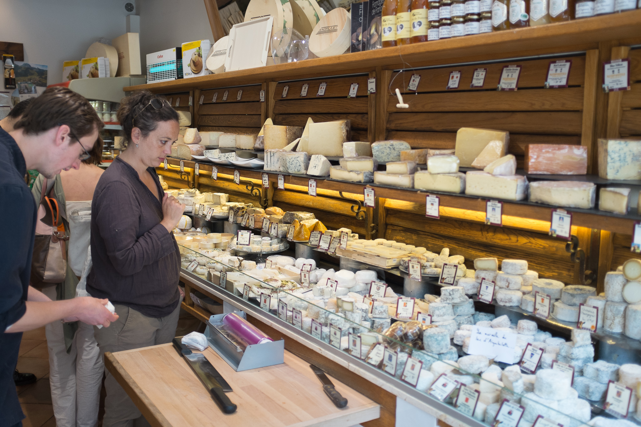 Selecting some cheeses during our Paris by Mouth food tour.