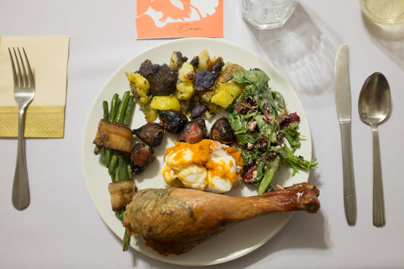 Last year's Thanksgiving meal shared with college friends!