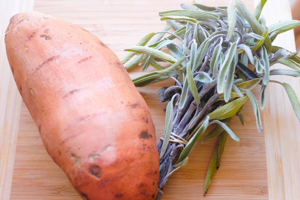 Sweet potato and wild sage: two great CSA finds!