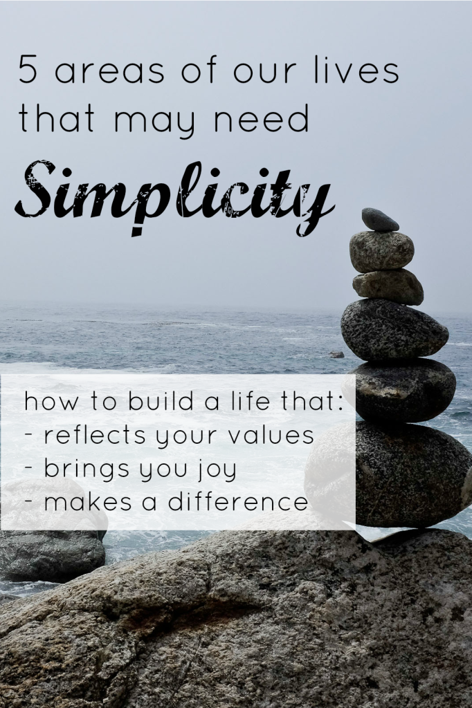 5 areas of our lives that need simplicity- how to simplify your life for a more productive and happy existence