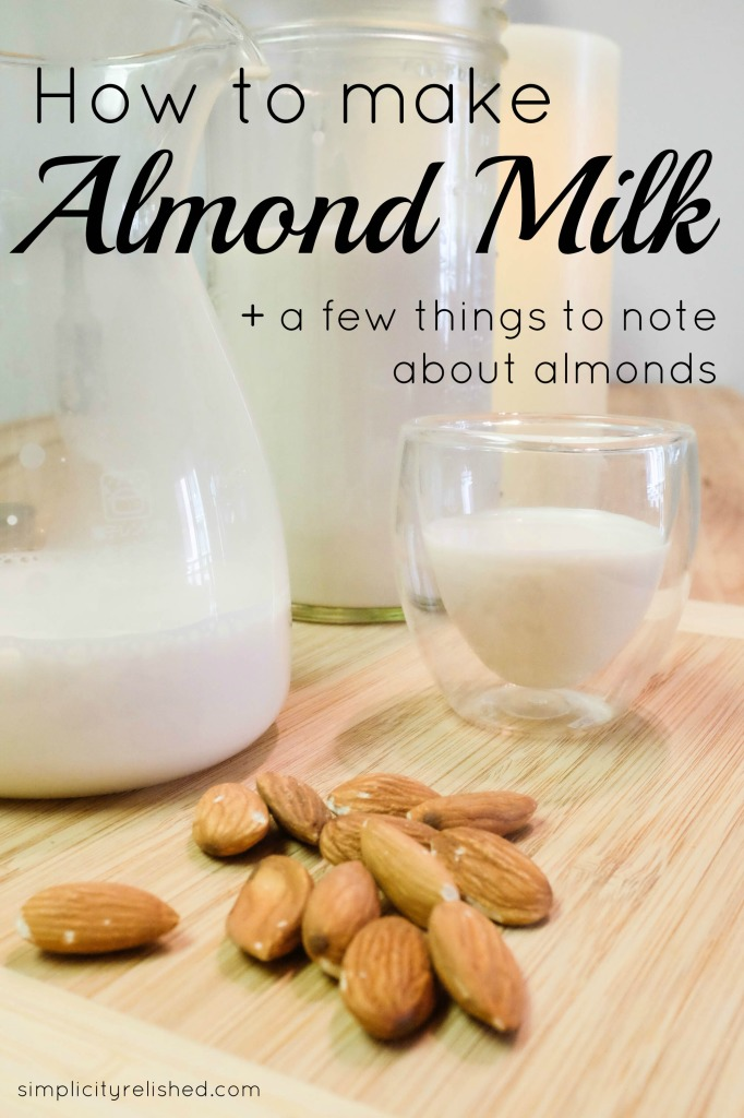 How to make almond milk, a recipe and little chat about almonds #vegan