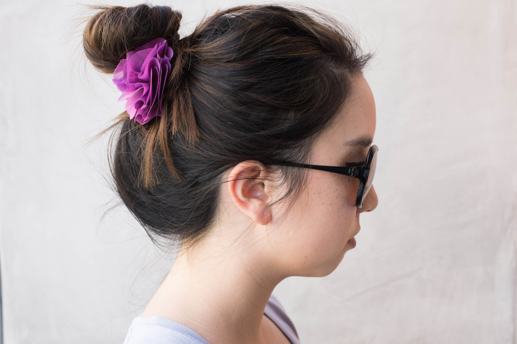 Quick and Simple Messy Bun