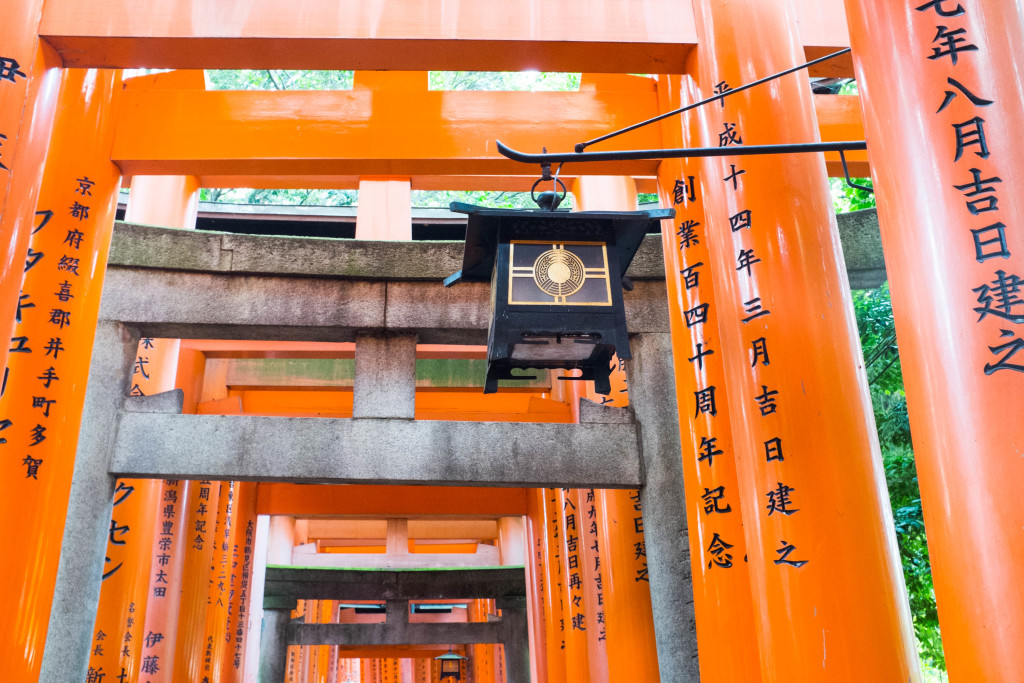 Various torii gates at Fushimi Inari Shrine