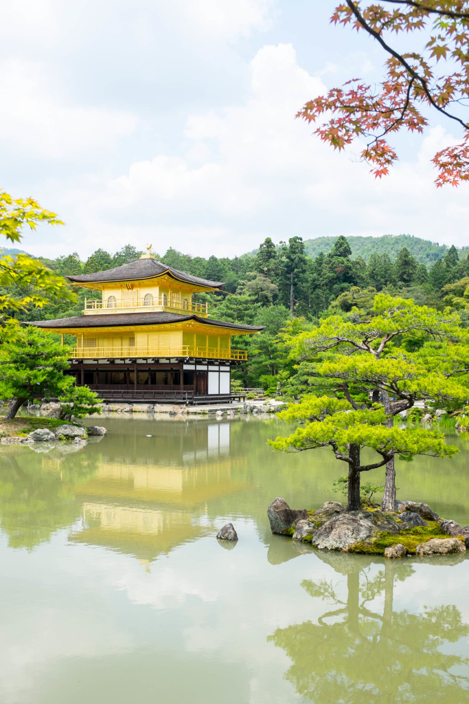 Golden Pavilion, also known as Kinkakuji, in Kyoto Japan