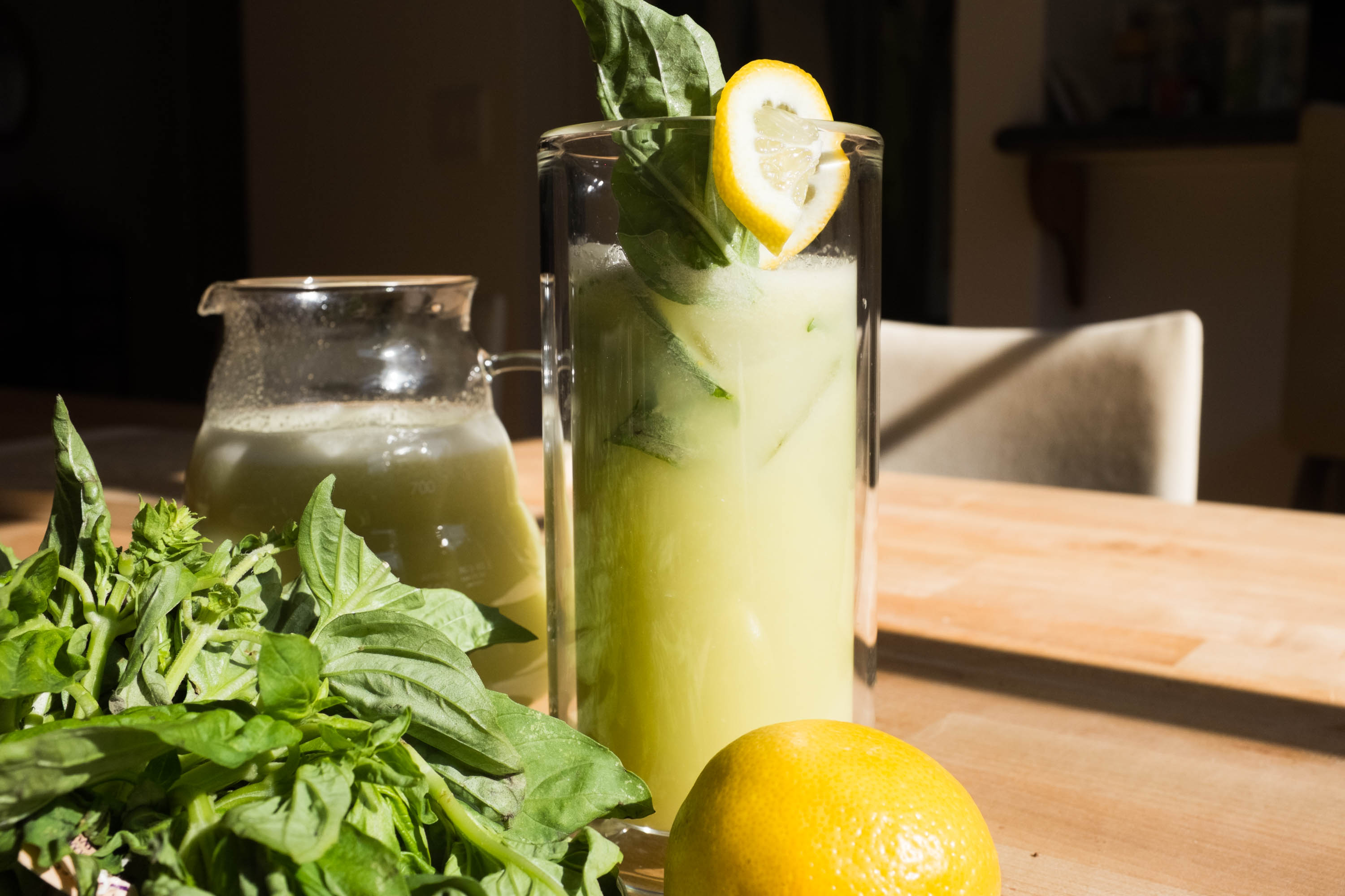 Effortless No-Squeeze Lemonade with Basil
