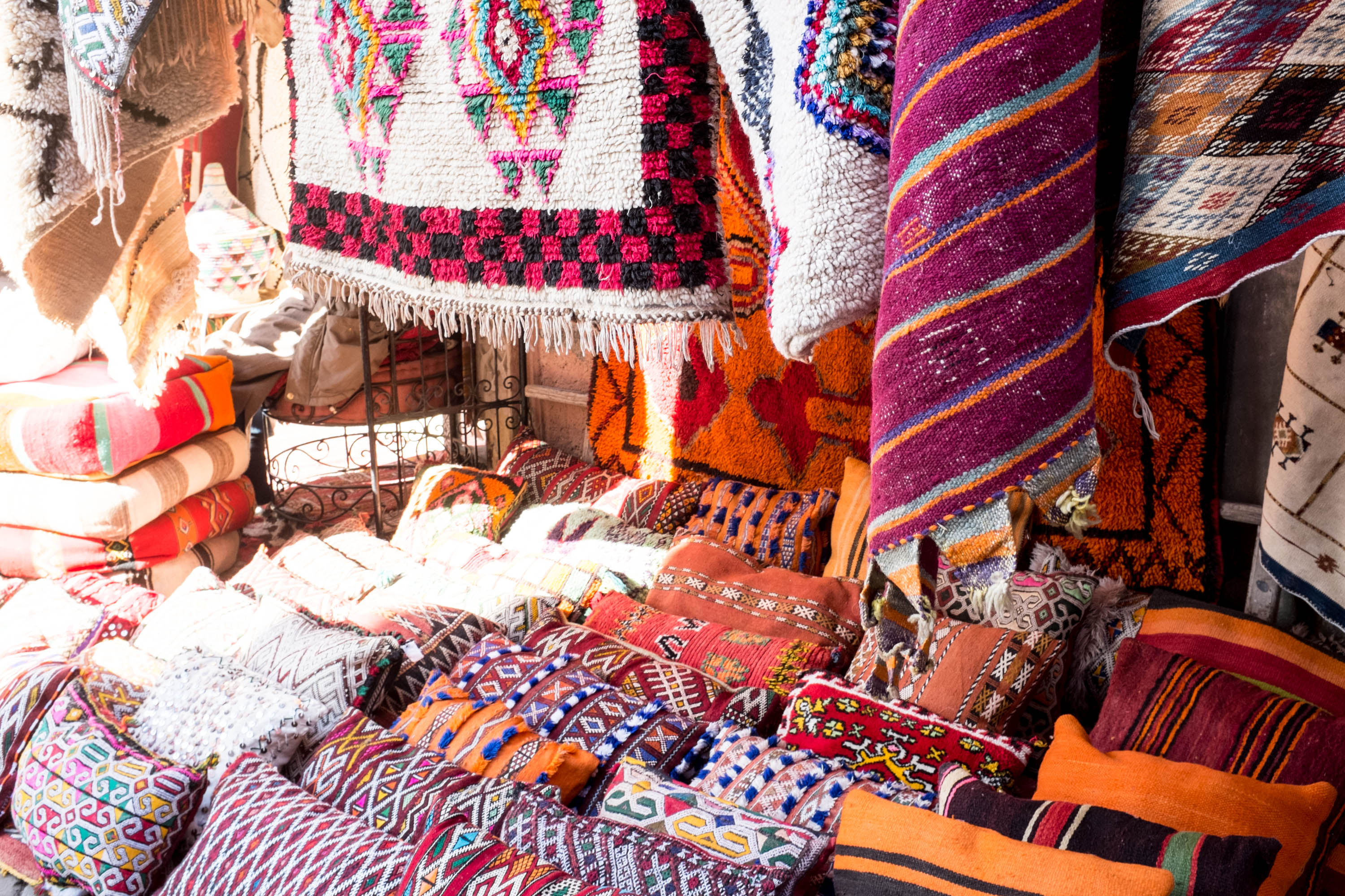 Lovely Handira pillows | Marrakech: a quick guide